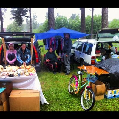 1/7-12 Varför ska man packa ihop bara för att det regnar?? :)