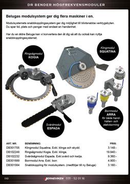 Dr Bender modulsystem för Beluga högfrekvensmotor