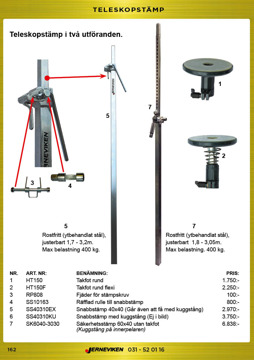 Teleskopstämp och säkerhetsstämp