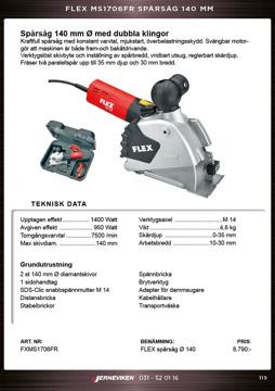 Flex spårsåg för betong MS1706FR