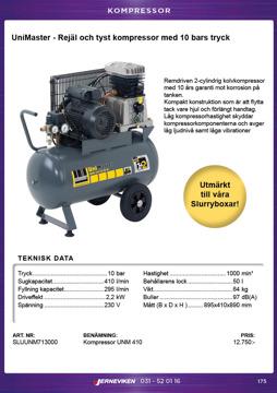 Unimaster kompressor för ex. Slurryboxarna