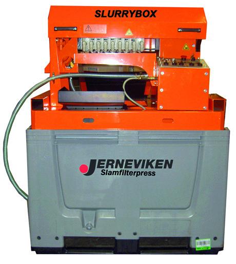 Slurrybox slamfilterpress - separerar borrkax från vattnet