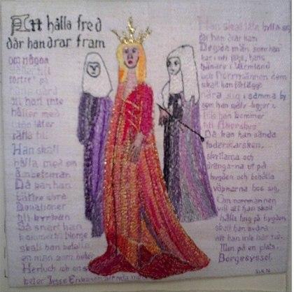 DROTTNING MARGARETA  Konstnär Birgitta Arkenback