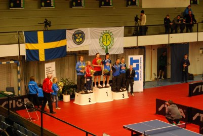 1:a Daniela Moskovits/Anthony Tran. 2:a Simon Arvidsson/Sara Rask 3:a Marlene Appelgren/Mikael Appelgren, Tilda Johansson/Anton Källberg(saknas på bilden)