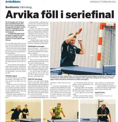 Utklipp från Arvika Nyheter