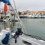 I Vilamoura ligger vi med en massa motorbåtar. Första hamnen under Etapp 3.