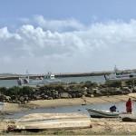 Genuint fiskeläge på baksidan. Isla Cristina i bakgrunden.
