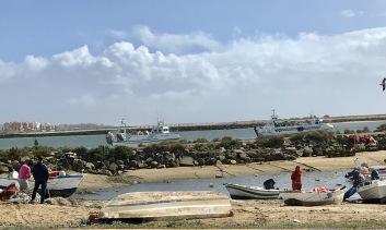 Delar av den lokala fiskeflottan