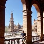 Plaza de Espana i Sevilla.