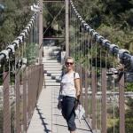 Kari på svindelhängbro