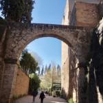 Alhambra fick vi se från utsidan.