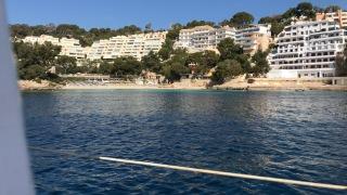 Utsikt när vi ankrade utanför Palma