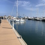 Lite tomt bland gästbåtarna på Santa Eulalia.