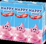 Happy Drink Jordgubbsmjölk med sugrör (UHT)