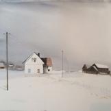 vita huset 76x56cm