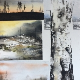 Collage norrland 76x105cm