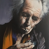 Keith Richardes Smoke II  90x160cm