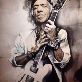 keith richards 100x120 cm