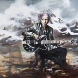 Keith Richards in Sweden 157x127cm
