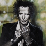 Keith Richards 93x71 cm