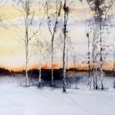 sunset Sweden 76x56cm