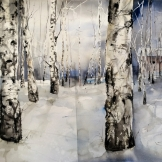 Birch in Ockelbo 105x76cm