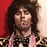 Keith Richards Young 100x81cm