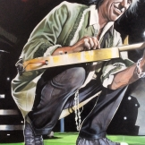 Keith R on stage 100x100cm
