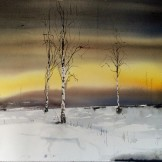 solnedgång norrland 76x105cm