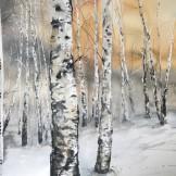 Birches 2018. 76x105cm
