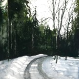 end of road. 56x76cm