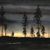 Sunset Lapland 56x45cm