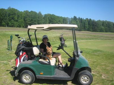 Jag älskar att åka golfbil