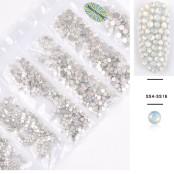 Vit opal kristaller
