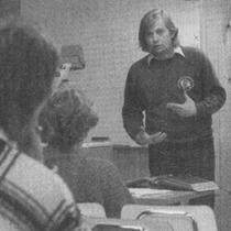 Lars Fält hade säkert mycket nytt att komma med... (Charmören 1/1987).
