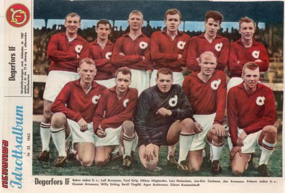 Degerfors, som länge kämpade med IFK Norrköping om det Allsvenska guldet 1963.