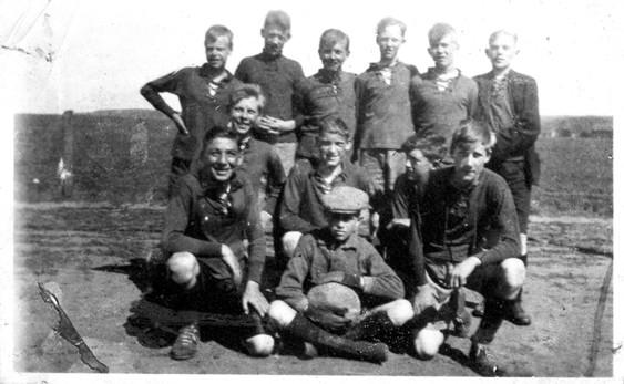 Ett gäng fotbollsgrabbar från Haga