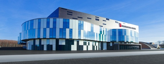 Helsingborg Arena är en av Sveriges modernaste arenor. Den öppnades för ett halvår sedan. Den var första anhalten på VIHFs utflykt måndagen den 13 maj. Efter bussresa från Varberg började vi besöket på Helsingborg Arena med en välsmakande lunch innan vi fick en guidad visning av en mycket påkostad arena. Byggnaden är framför allt en satsning på idrotten och är Helsingborgs huvudarena för inomhusidrott men arenan används också för konserter, kongresser och andra evenemang.