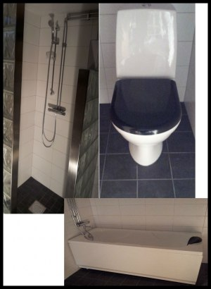 Ombyggnad av källarutrymme, till badrum