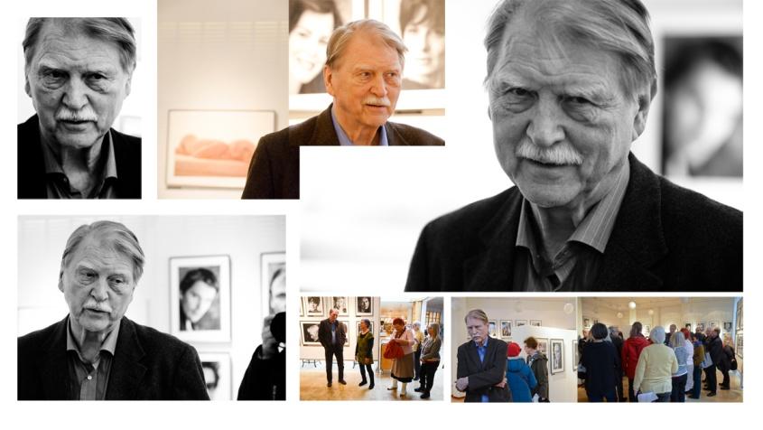 Leif-Erik Nygårds fotograferad av Catrin Engman under vernissaget 15:e mars i Kalix konsthall                    Se fler bilder under fliken Utställningar