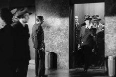 Hitchcock ur en hiss bärande på en fiol