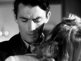Gregory Peck klarar inte att se strecken på Ingrid Bergmans morgonrock, ur Trollbunden