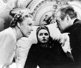 En skräckslagen Ingrid Bergman håller på att förgiftas av sin man och svärmor