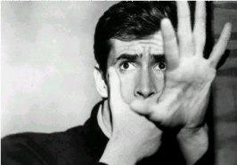 Anthony Perkins i sin livs roll som den störde Norman Bates