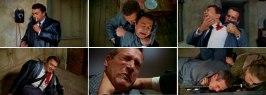 Ett montage av den berömda mordscenen ur En läcka i ridån