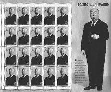 En frimärkssamling gavs ut till Hitchcock minne i slutet av 90-talet