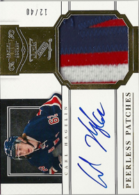 2011-12 Dominion Peerless Patches Autographs #62 Carl Hagelin/40