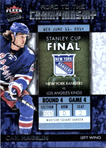 2014-15 Ultra Road to the Championship #RTCNYRCH12 Carl Hagelin/Round 4 (6/11/14)