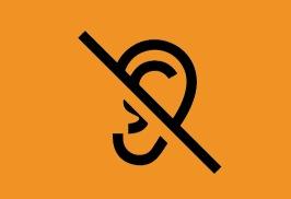 Besökare med hörselskada