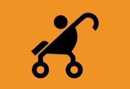 Besökare med barnvagn